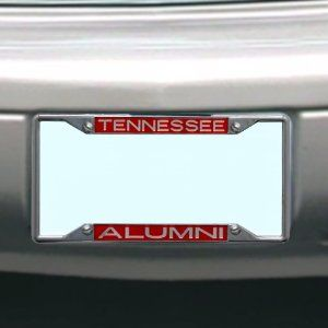 NCAA Tennessee Volunteers License Plate Frame Alumni by Stockdale. Save 7 Off!. $16.78. Hand Inlaid Mirrored Acrylic. Made in USA. Laser-Cut Mirrored Acrylic Inserts. Officially Licensed NCAA Product. Chrome Metal License Plate Frame. Chrome Metal License Plate Frame with Inlaid Mirrored Acrylic Inserts