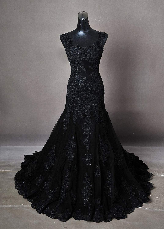 Gothic Black Wedding Dress Made To Measure Any Size Plus Any Colour Amazon Co Uk Clothing Black Wedding Dresses Gorgeous Dresses Gothic Wedding Dress [ 1500 x 1073 Pixel ]