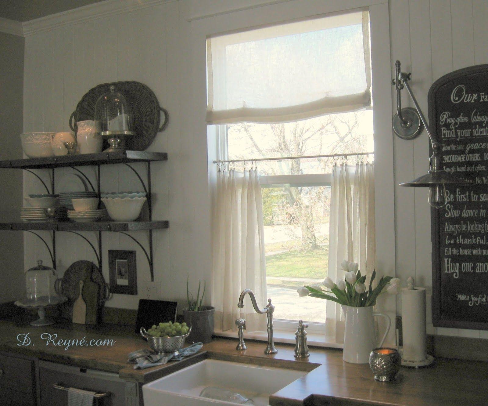 French Bistro Kitchen Curtains