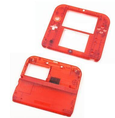 original nintendo 2ds repair part shell housing 2ds transparent red