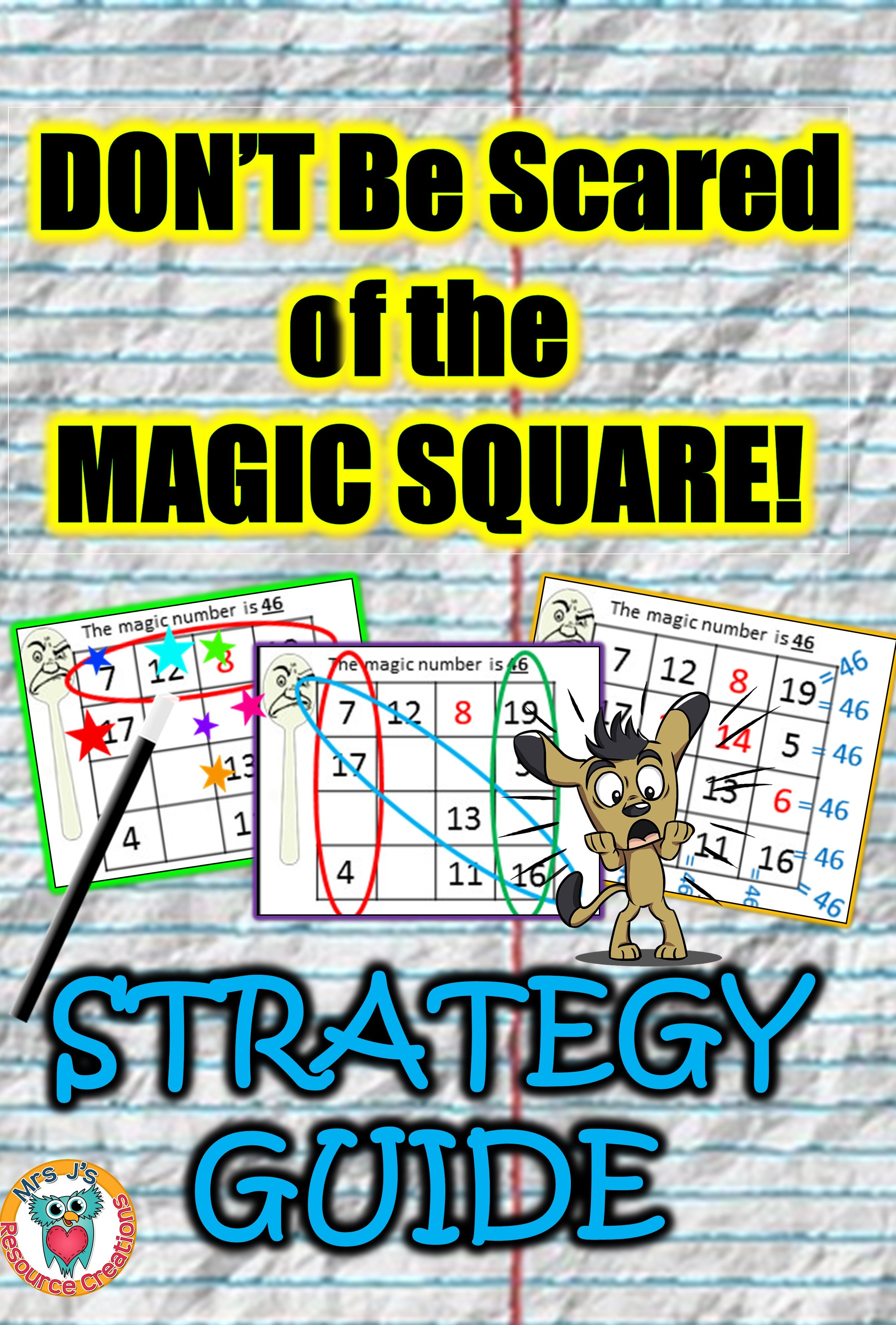 Strategy Guide To Solving Magic Squares For Students Who