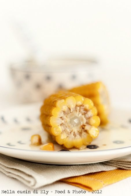 Corn boiled with melted butter