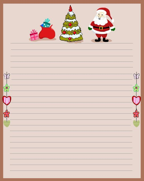 Printable Christmas Stationery to Use for the Holidays Holidays - microsoft word santa letter template