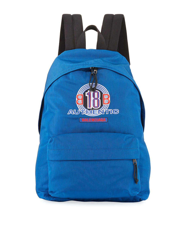 4a89974395 BALENCIAGA MEN'S AUTHENTIC DOUBLE-LOGO EXPLORER BACKPACK. #balenciaga #bags  #canvas #backpacks #