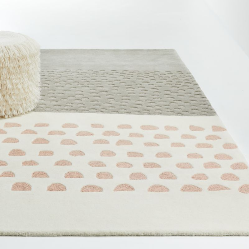 Pink Animal Print Rug Crate And Barrel In 2020 Playroom Rug Girls Rugs Pink Animals