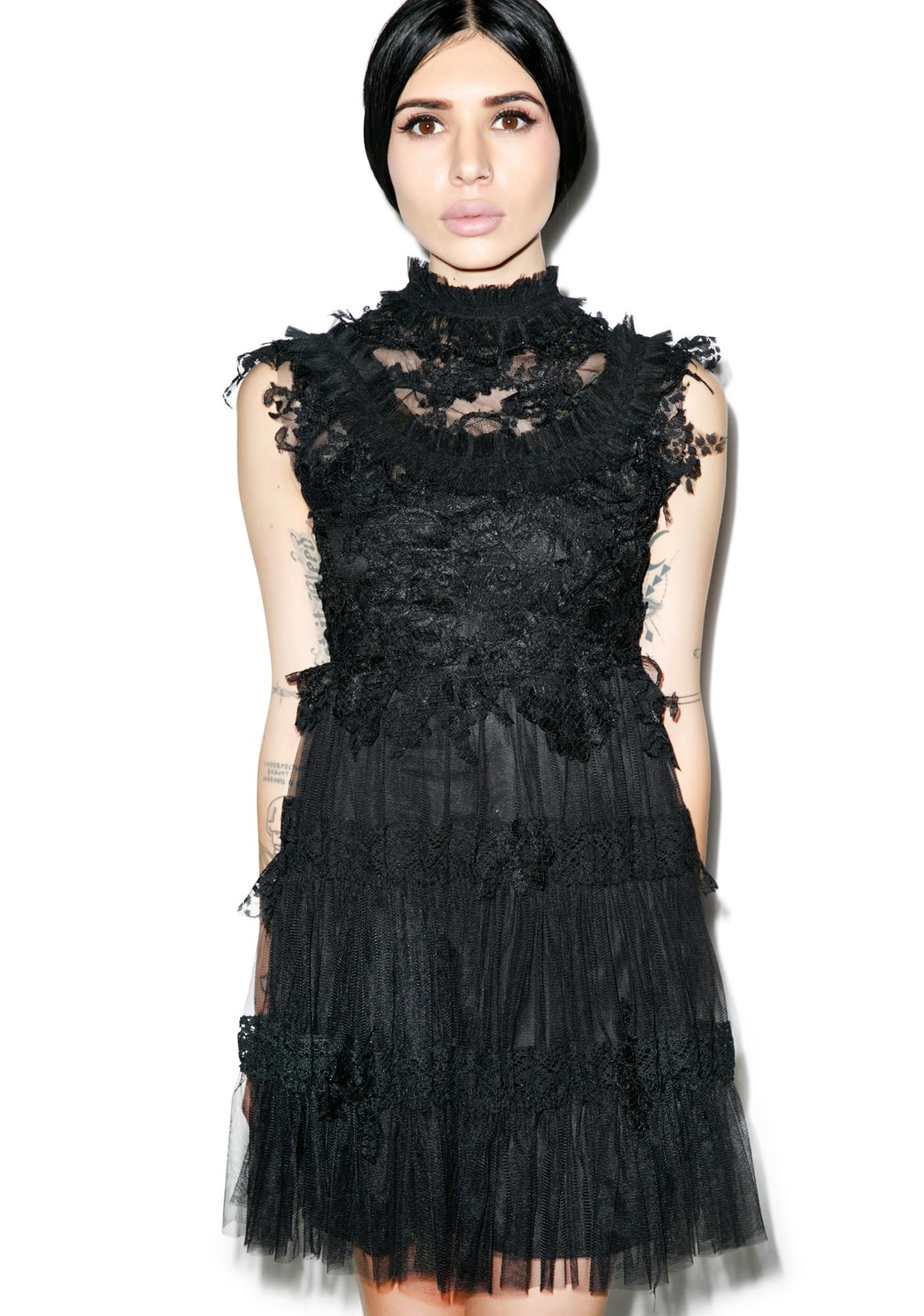 Angelic dress black streetwear clothing wildfox and rave