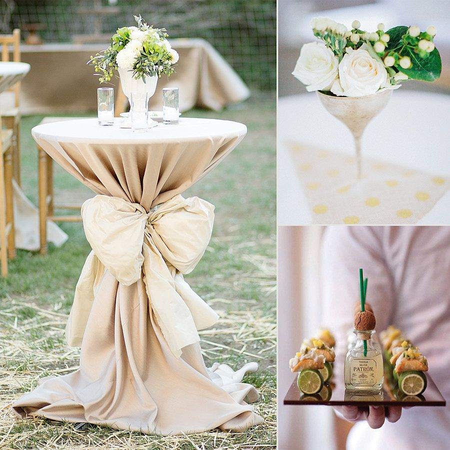 Cocktail Table Decorations Ideas the 5 essentials to the perfect cocktail reception | wedding