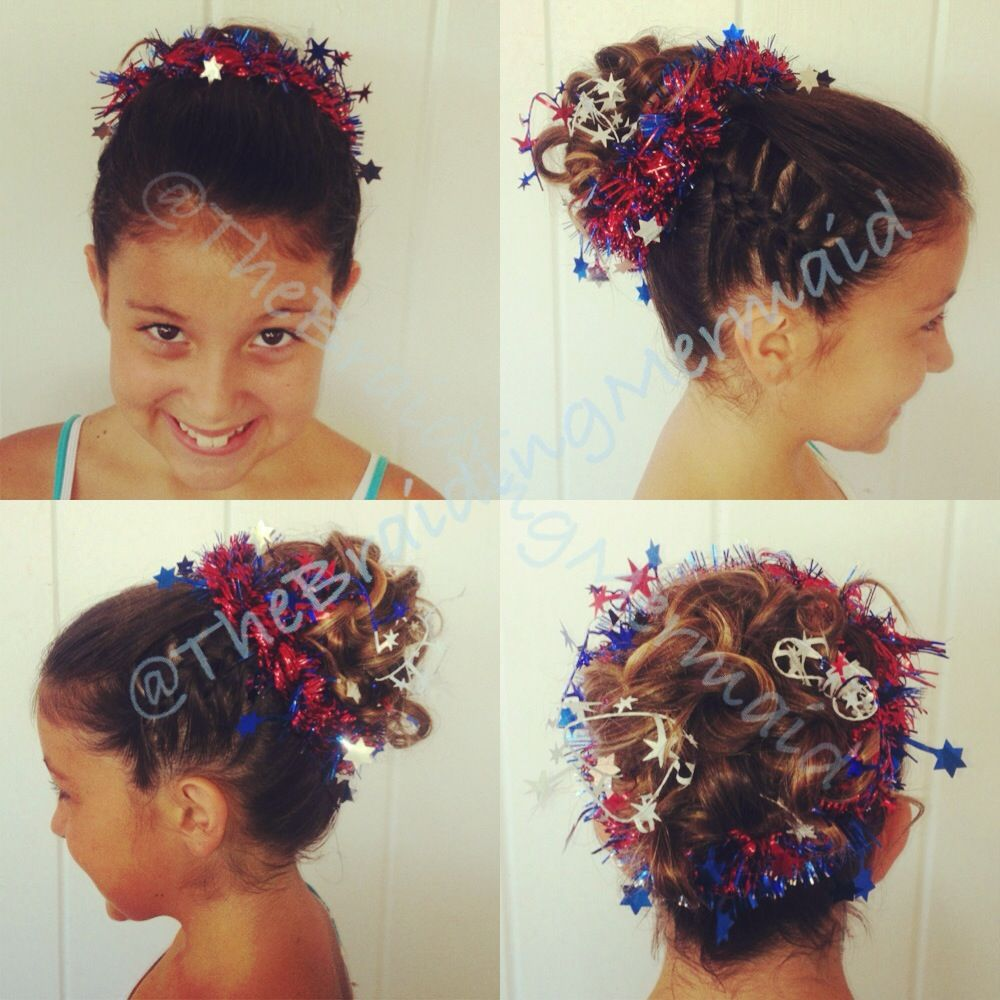 Cute th of july girl hairstyle as inspired by thewrighthair