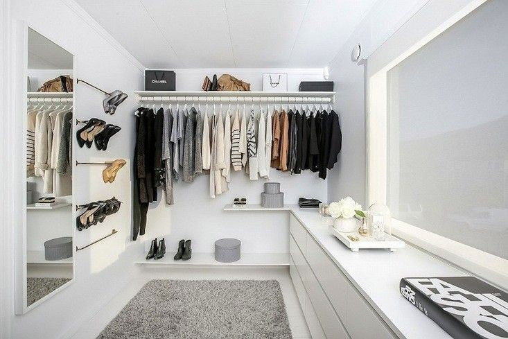 simple AMAZING walkin closet with 5 bathroom towel rods & 3 ikea malm #simplebathroomdesigns