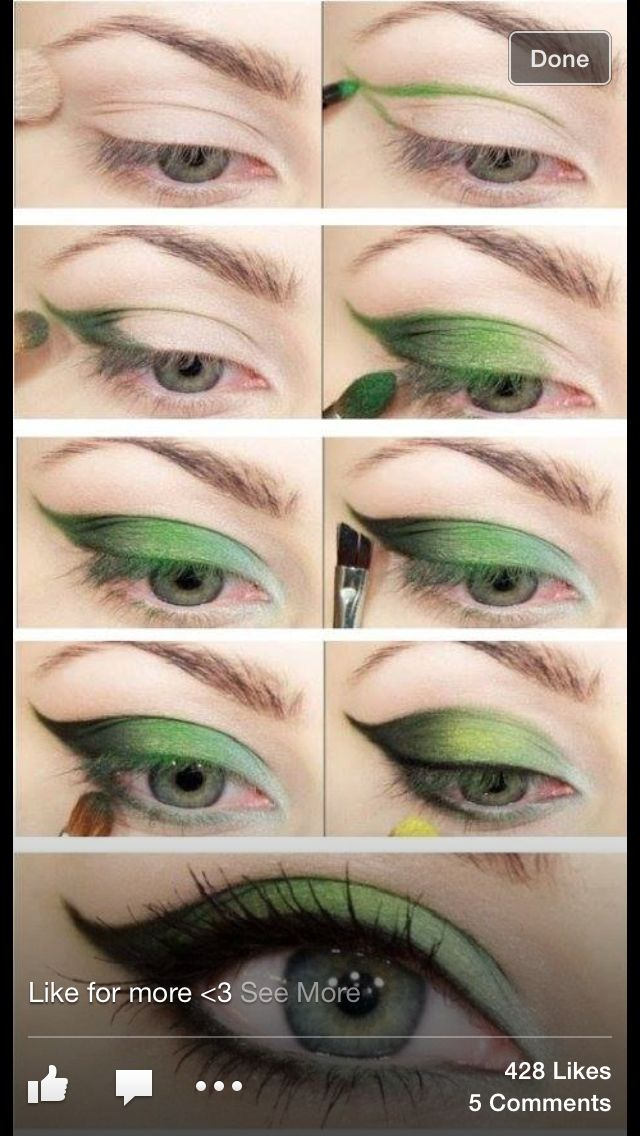 Green eye makeup I wish I was talented enough to do this