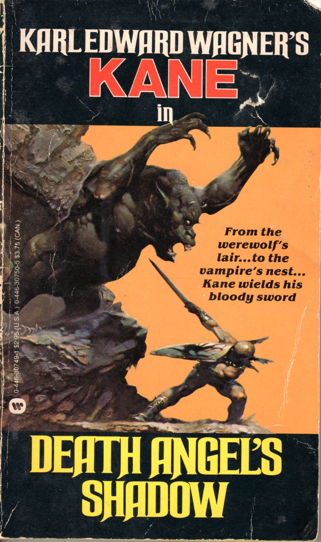 Book Cover Art Gallery : Death angel s shadow karl edward wagner cover by