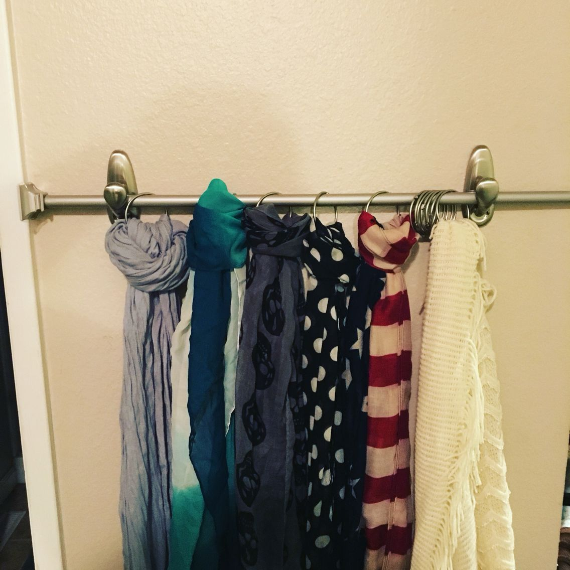 Scarf Rack Want To Avoid Holes In Your Walls Well Here You Go