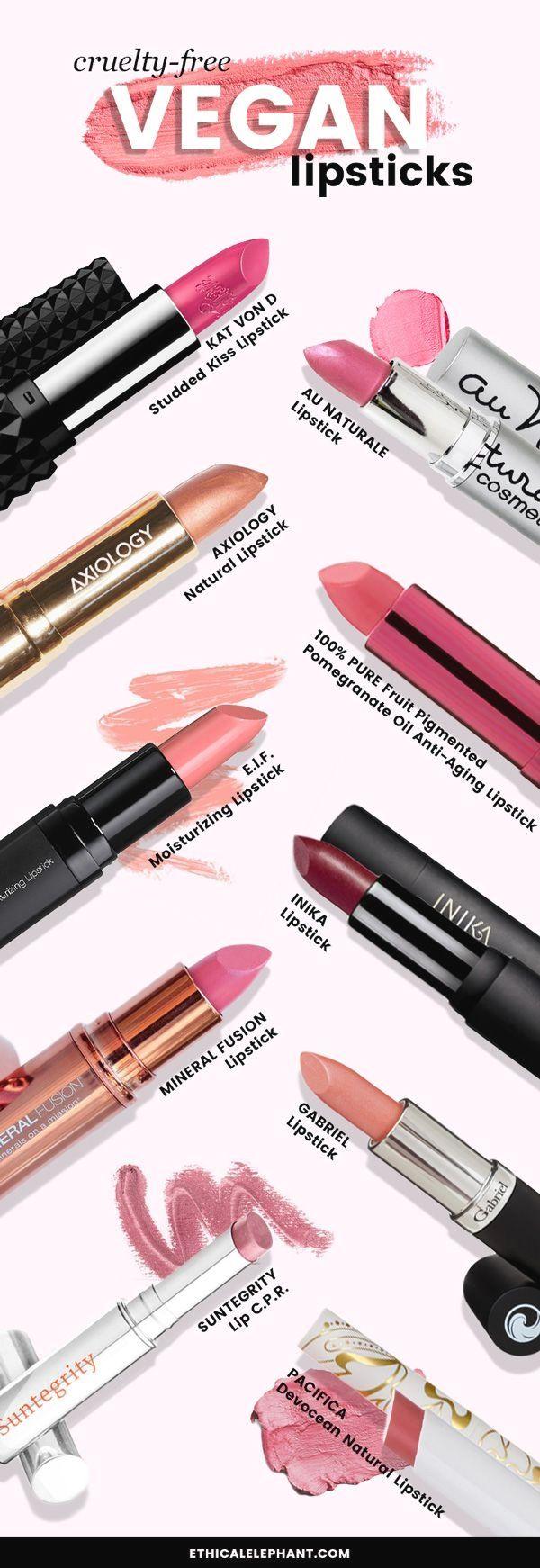 List of crueltyfr .. Vegan lipsticks, Cruelty free