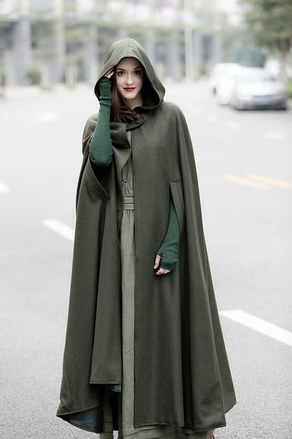 4f9791915e75 Maxi Hooded Wool Coat Cloak