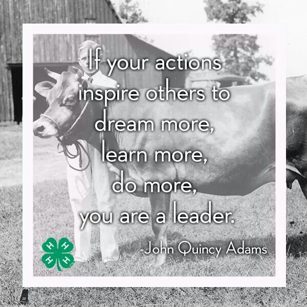 60H Used This Quote In My 60H Speech On Leadership Inspiration 4 H Quotes