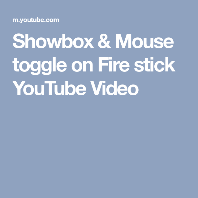 mouse app for fire tv