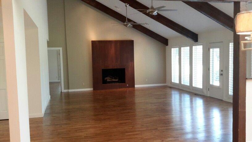 New Maple hardwood floors make the house feel warm.