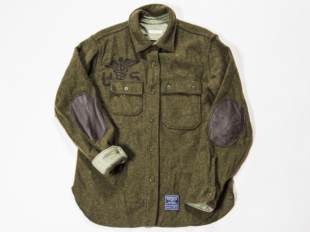 Engineered Garments x Faribault Woolen Mill Co.- Medic Green CPO Jacket