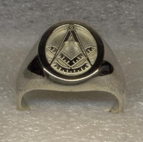 9a5b0b4c1f418 Silver Masonic Ring | Silver Masonic Rings | Rings, Signet ring ...
