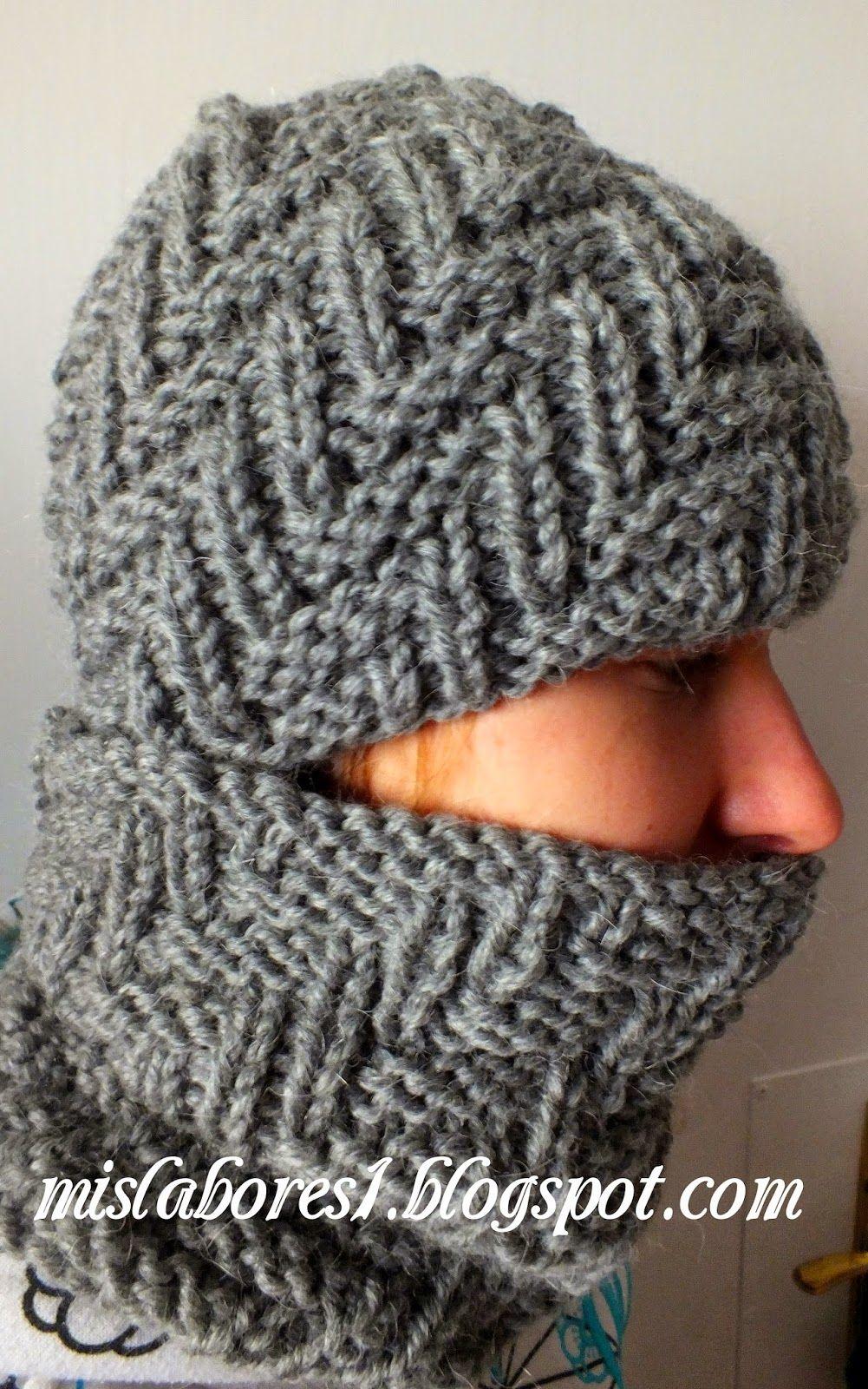 f6f9ee2d8dc6 GORRO Y BRAGA DE HOMBRE   Crochet   Gorro tejido para hombre ...