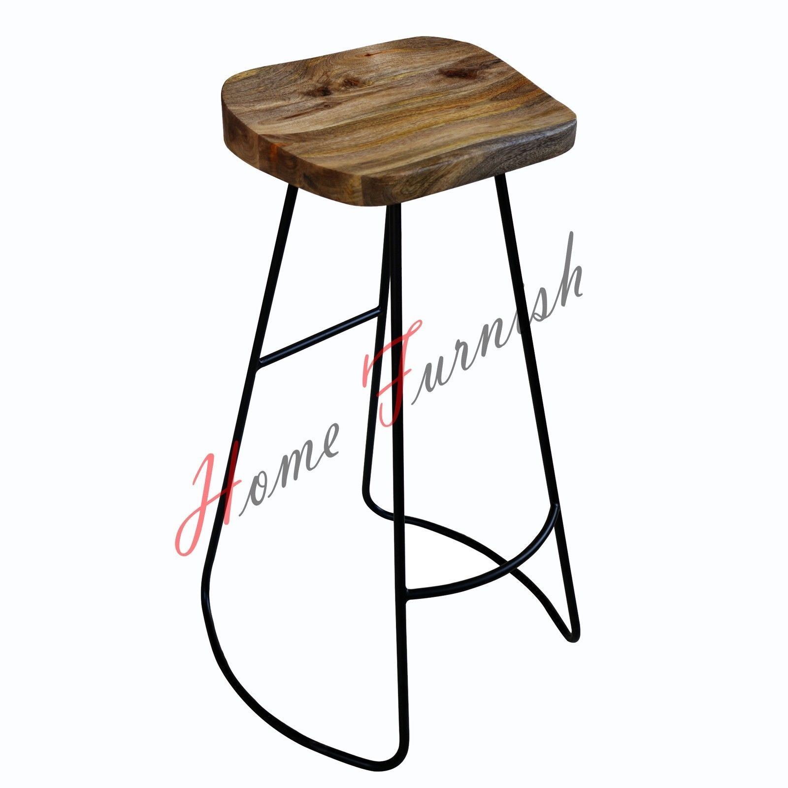 Vintage Industrial Bar Stools Counter Height Stool Steel Bar