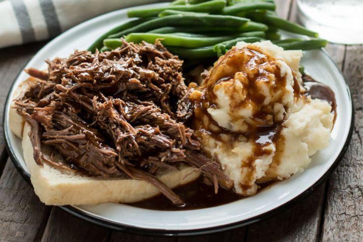 Slow Cooker Hot Roast Beef Sandwiches - Der magische Slow Cooker   - meals -