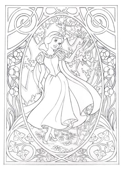 Nouvsnowwhite Jpg 426 580 Disney Coloring Pages Colouring Pages Coloring Pages