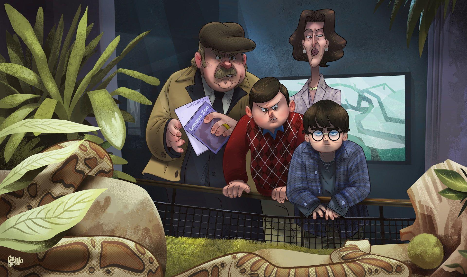 Gabirotcho Digital Art Fan Art Harry Potter And The Philosopher S Stone Zoo Snake Habi Harry Potter Illustrations Harry Potter Artwork Harry Potter Fan Art
