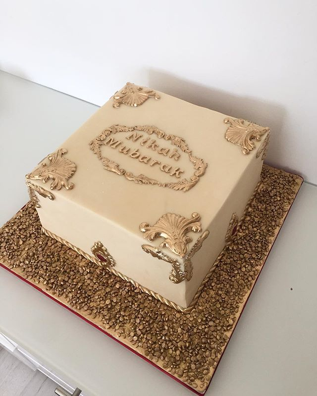 Nikah Mubarak Cake Congratulations To The Happy Couple And Happy