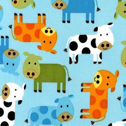 URBAN ZOOLOGIE Cows  Farm Animals Bermuda by by spiceberrycottage, $8.95