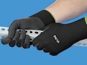 Uline Super Gription® Flex Latex Coated Gloves - Black Large S-15333BL- & Uline Super Gription® Flex Latex Coated Gloves - Black Large S ...