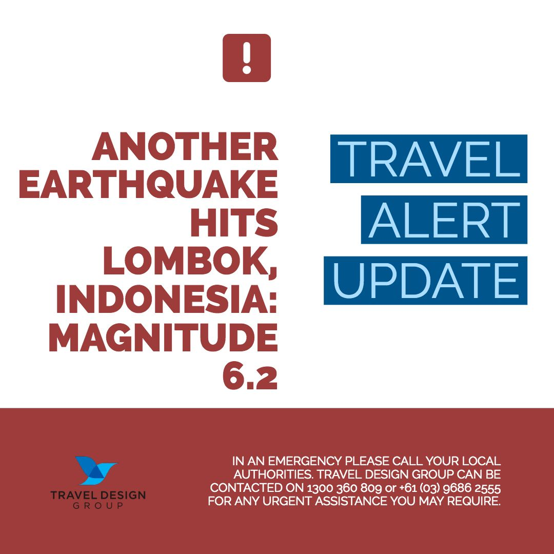Travel Alert 4pm 9 August 2018 Another Earthquake Has Hit Lombok Indonesia With A Magnitude Of 6 2 It S T Travel Design Traveling By Yourself Travel Alerts