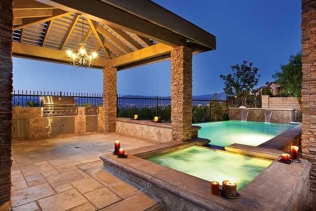 Pool Area Lighting Google Search Pavillion House Design Home Backyard