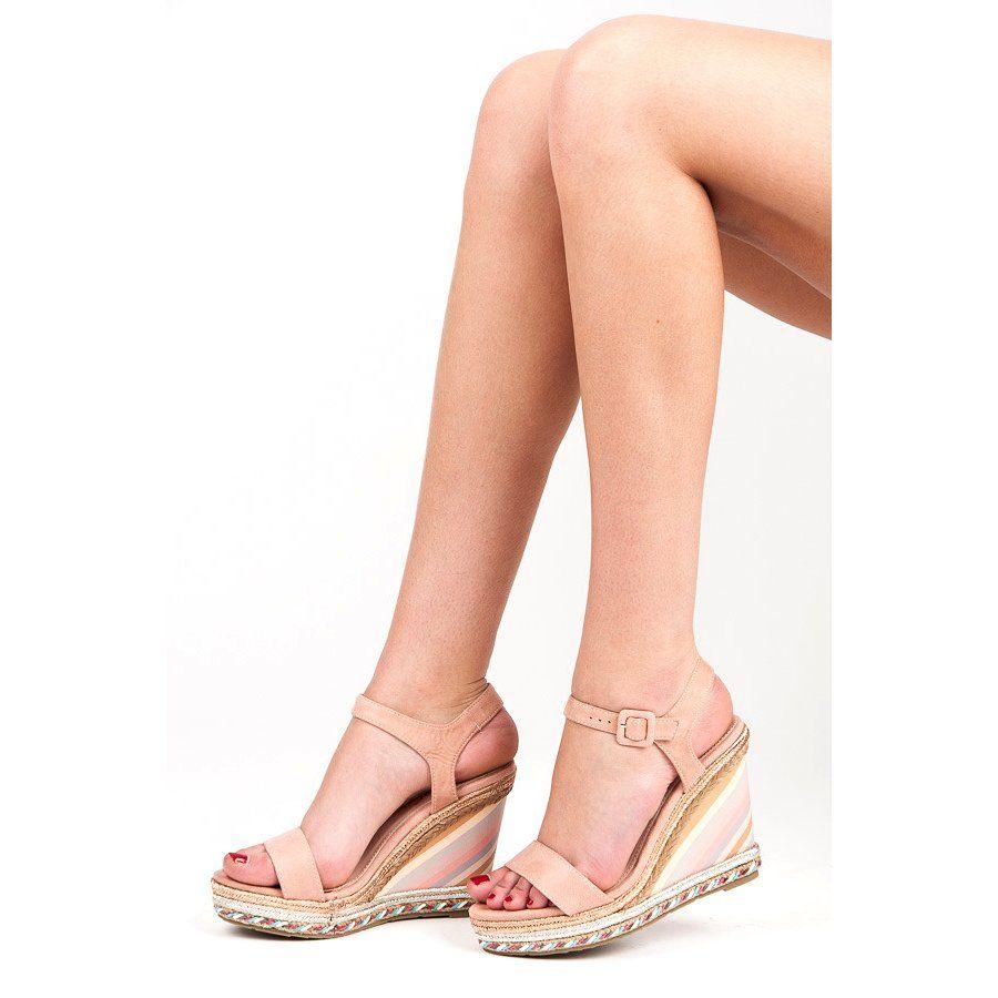 Seastar Letnie Buty Na Koturnie Rozowe Shoes Espadrilles Sandal Espadrille