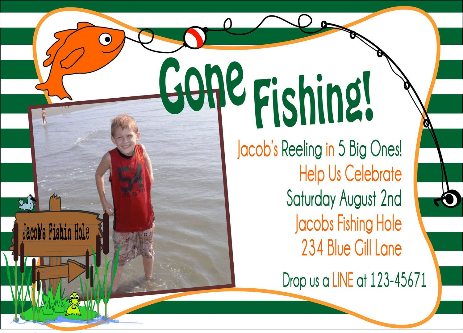 gone fishing diy printable birthday party package 30 00 via