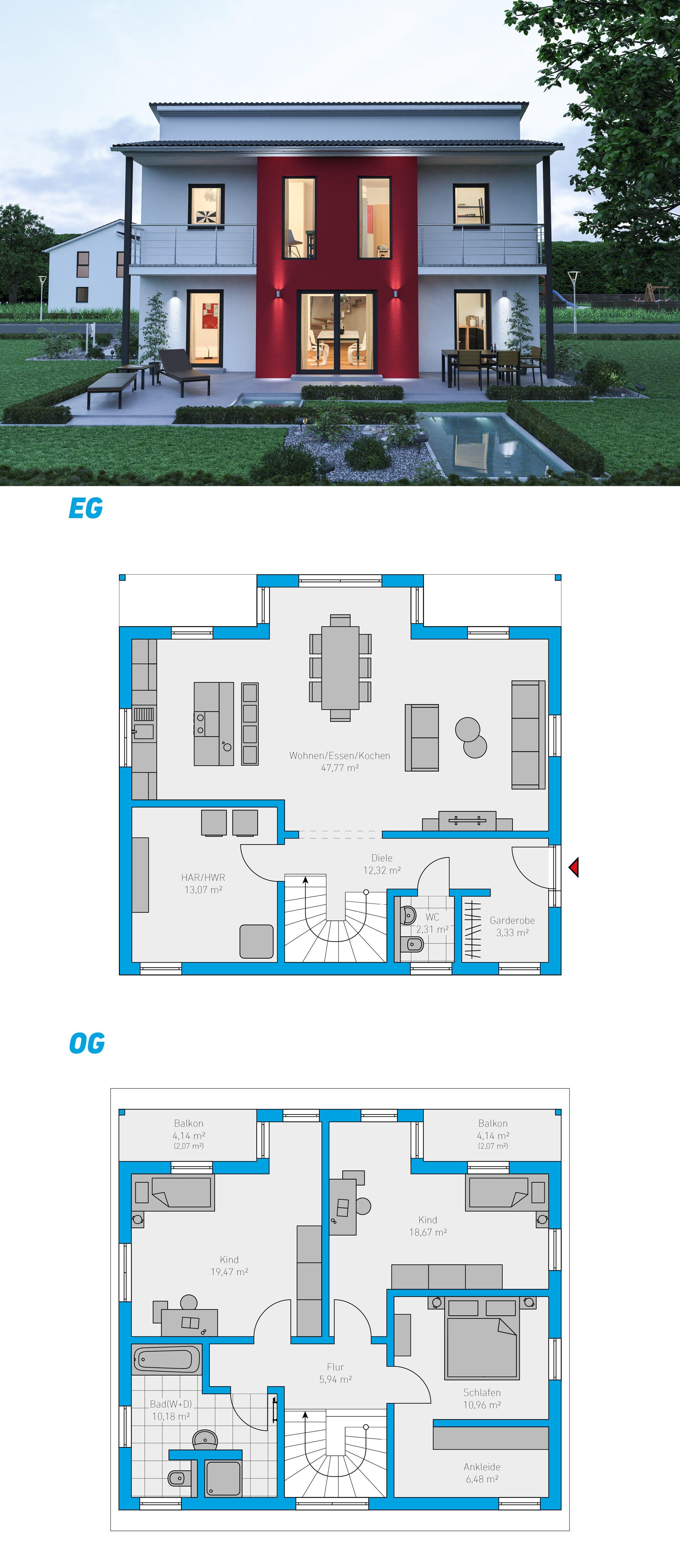 Illius 159 schlüsselfertiges Massivhaus 2geschossig
