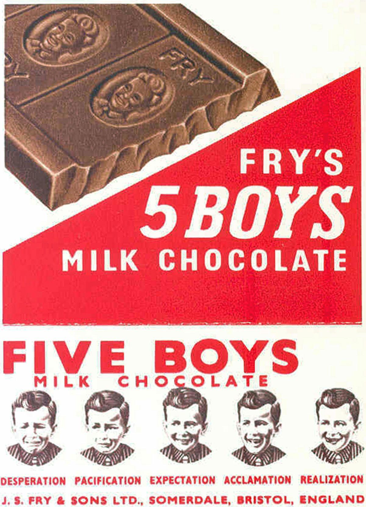 Frys Five Boys Chocolate Chocolate Boys Infographic