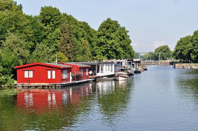 Houseboats by John A King, via Flickr