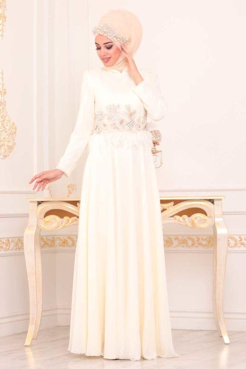 Tesetturlu Abiye Elbise Tesetturlu Abiye Elbise Puskullu Ekru Tesettur Abiye Elbise 3945e Tesetturisland Co Wedding Dresses Lace Formal Dresses Dresses