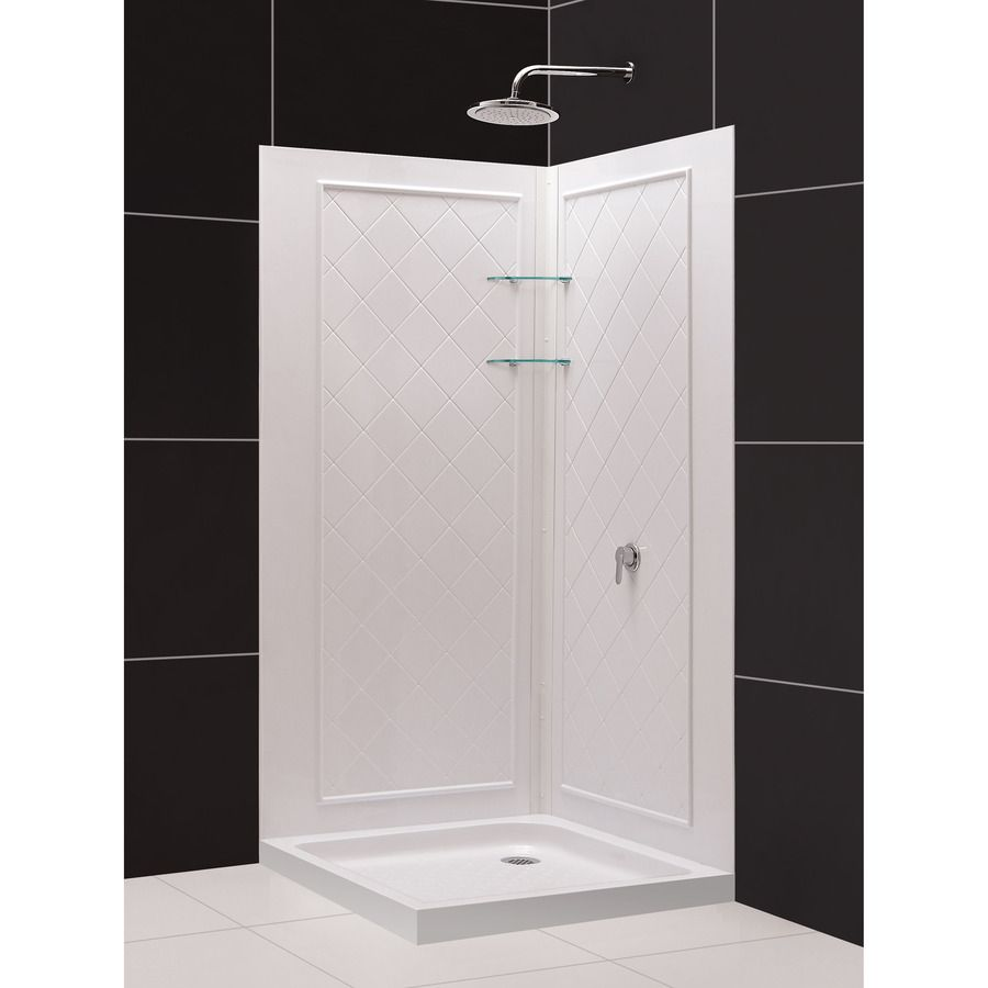 Shop Dreamline White Acrylic Wall Acrylic Floor Square 3 Piece