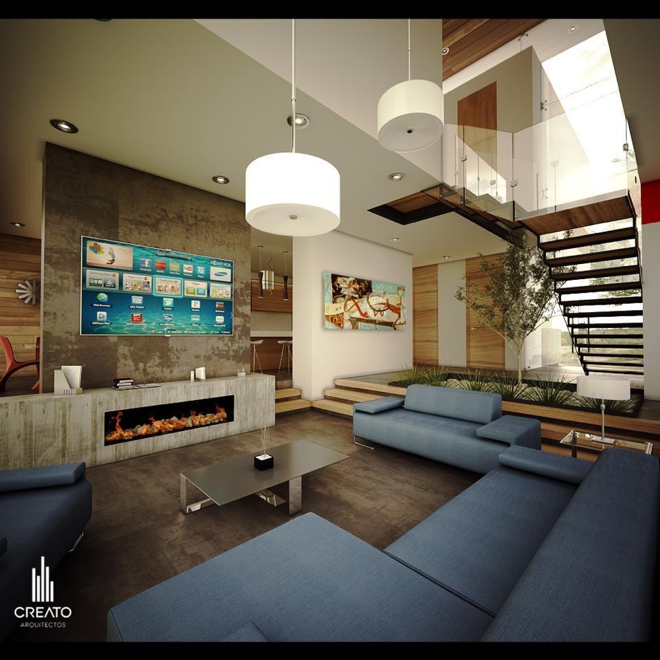 Casa los robles por creato arquitectos casa salas for Arquitectura moderna casas interiores