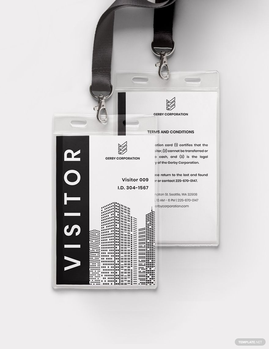 Visitor Access Id Card Template Word Doc Psd Apple Mac Pages Illustrator Publisher Id Card Template Card Template Templates