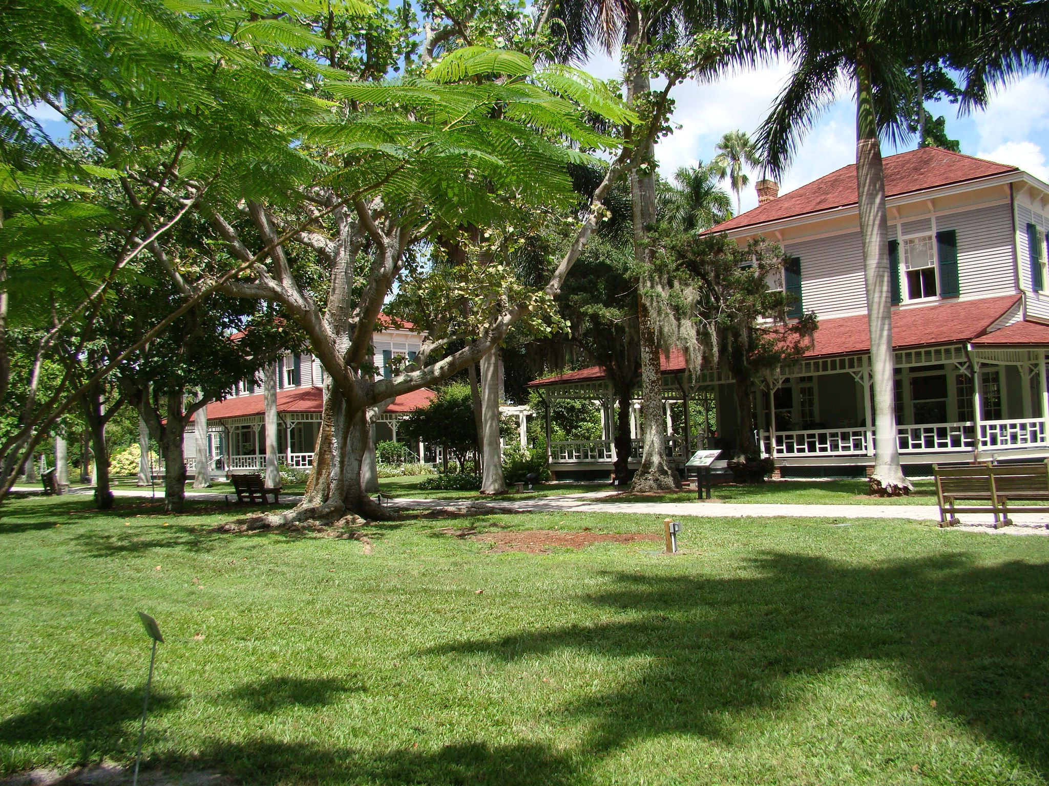Backside of Thomas Edison and Henry Ford winter homes in Ft. Myers ...