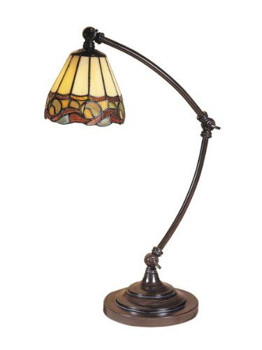 Save $ -14.99 order now Dale Tiffany Ainsley Desk Lamp at Best Tiffany Lamps sto