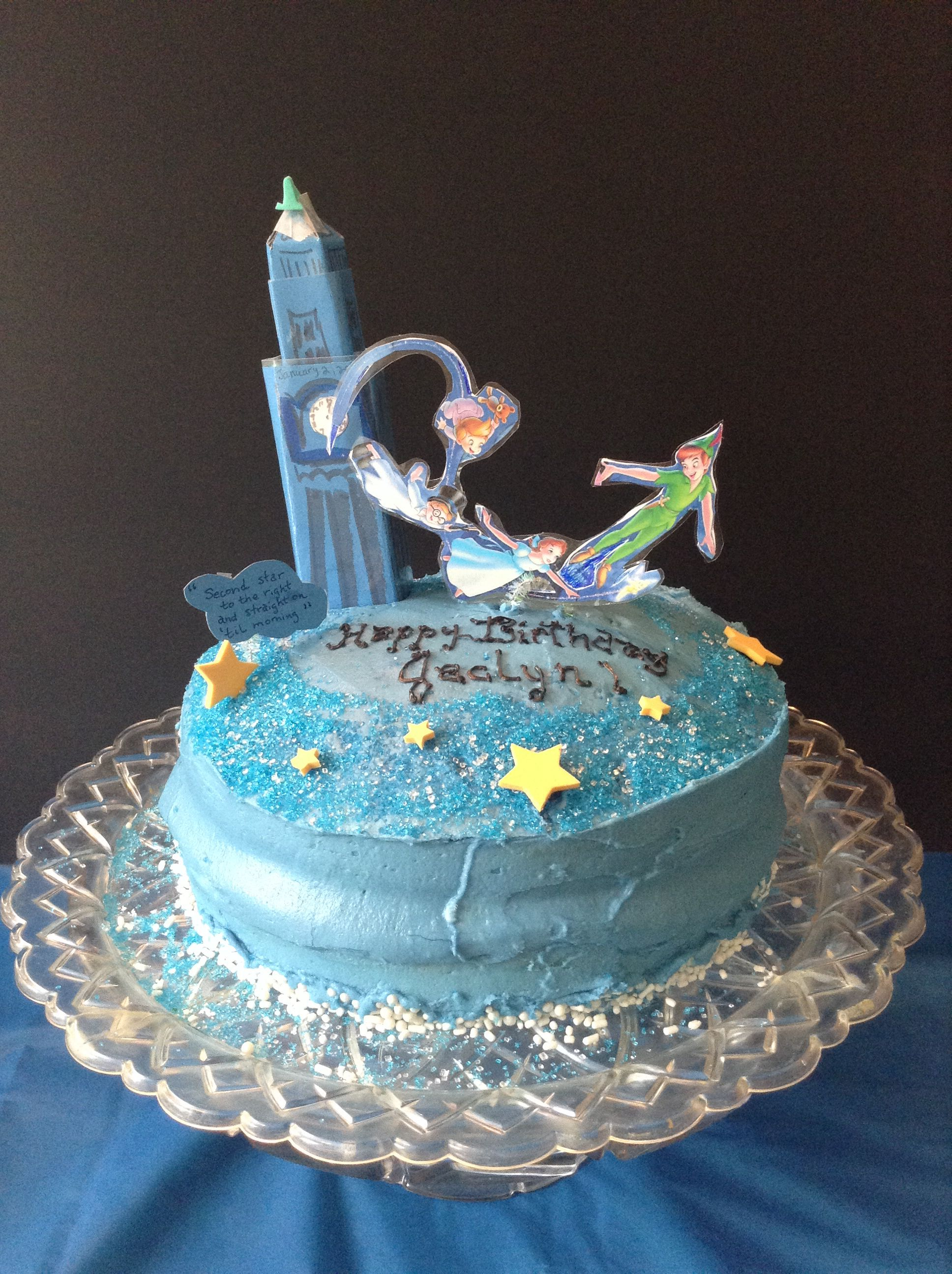 Peter Pan Birthday Cake Cakeideas Birthday Diy Peterpan With