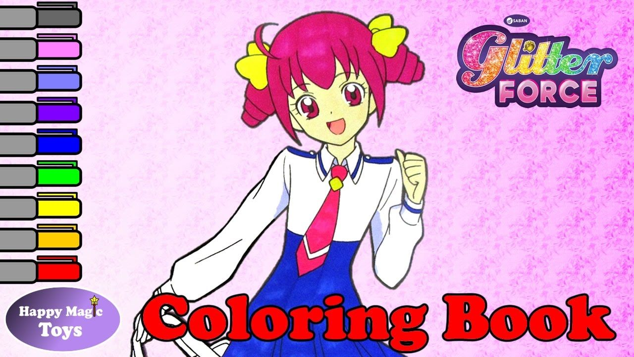 Glitter Force Coloring Book Emily Happy Magic Toys