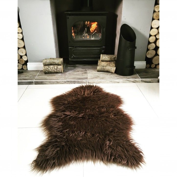 Brown Soft Shaggy Faux Sheepskin Rug In 2019