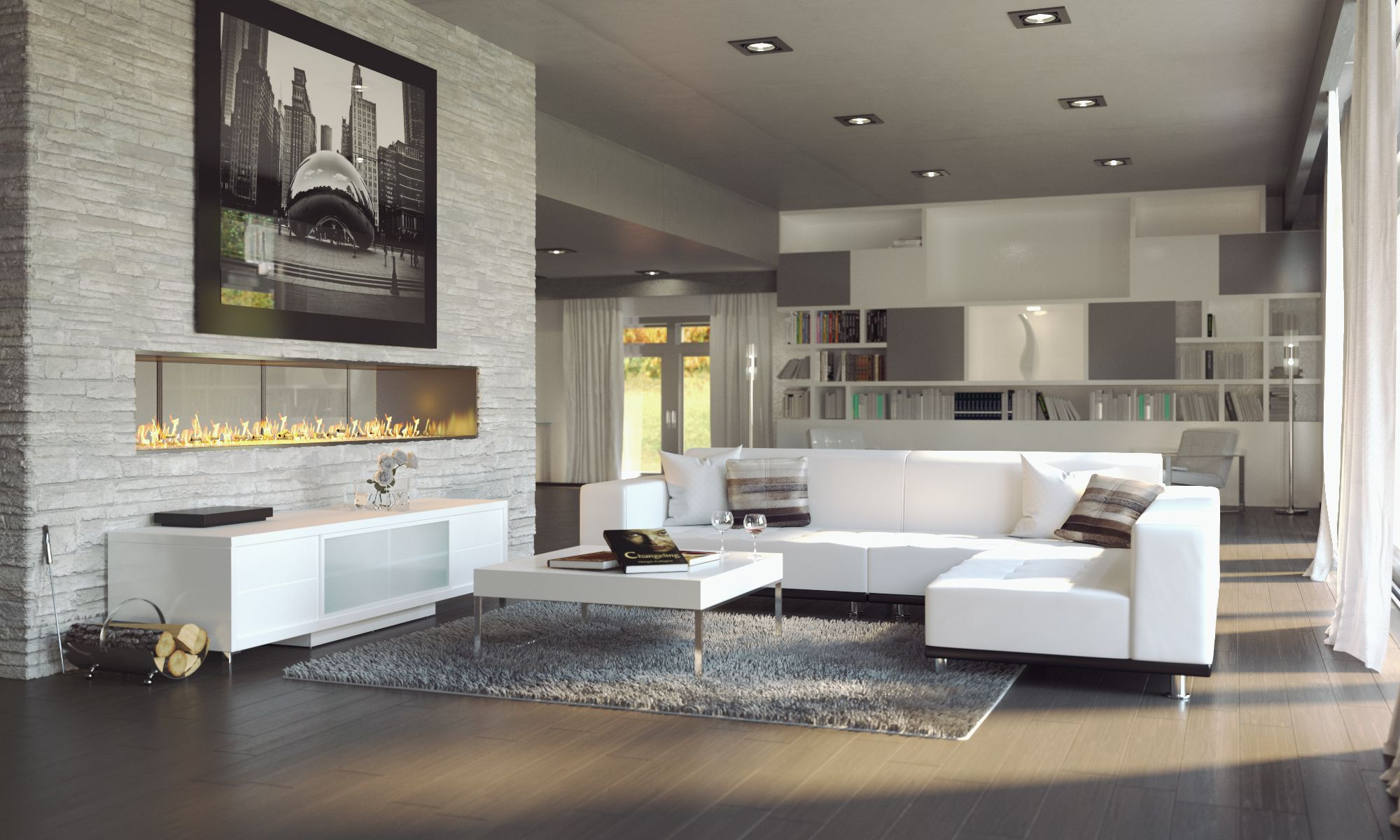 The Modern Collection Living Room By Modani Furniture Modern Family Rooms Luxury Kitchens Family Room [ 1200 x 2000 Pixel ]