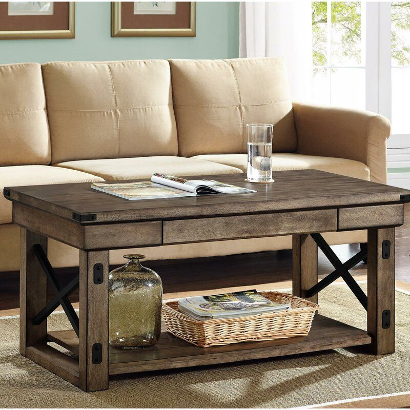 Wilmore Coffee Table in 2020 Rustic coffee tables