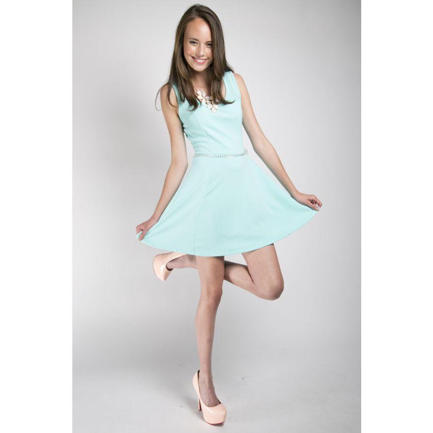 Vestido Casual Corto Campana Junior VERDE | vestidos | Pinterest